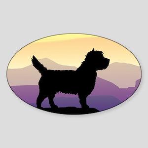 Cairn Terrier Purple Mt. Oval Sticker