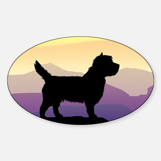 Cairn Terrier Purple Mt. Oval Decal
