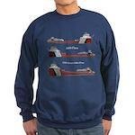 Aaa Class Uss Great Lakes Fleet Sweatshirt (dark)