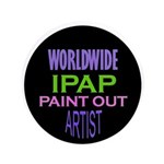 "Ipap Worldwide Paint Out 3.5"" Button (100 Pac"