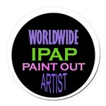 Ipap Worldwide Paint Out Round Car Magnet