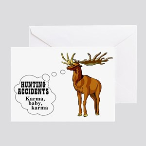 Hunting accidents Greeting Card