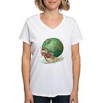 Christmas Mouse Women's V-Neck T-Shirt