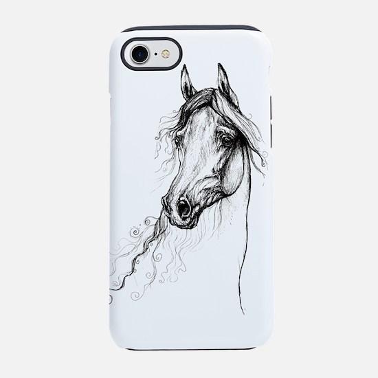 arabian horse head iPhone 8/7 Tough Case