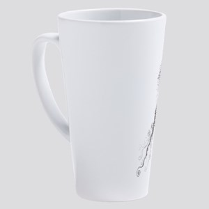 arabian horse head 17 oz Latte Mug