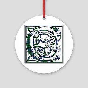 Monogram - Campbell Ornament (Round)