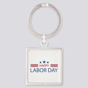 Happy Labor Day Square Keychain