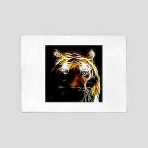 Glow Tiger 5'x7'Area Rug