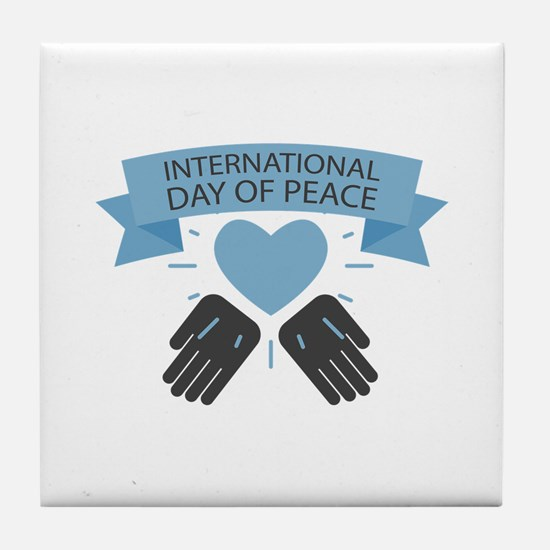 Day Of Peace Tile Coaster