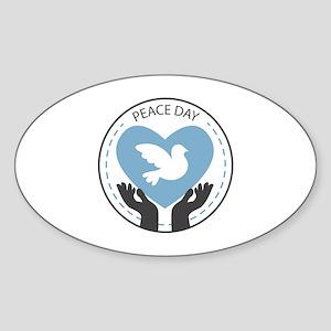 Peace Day Sticker (Oval)