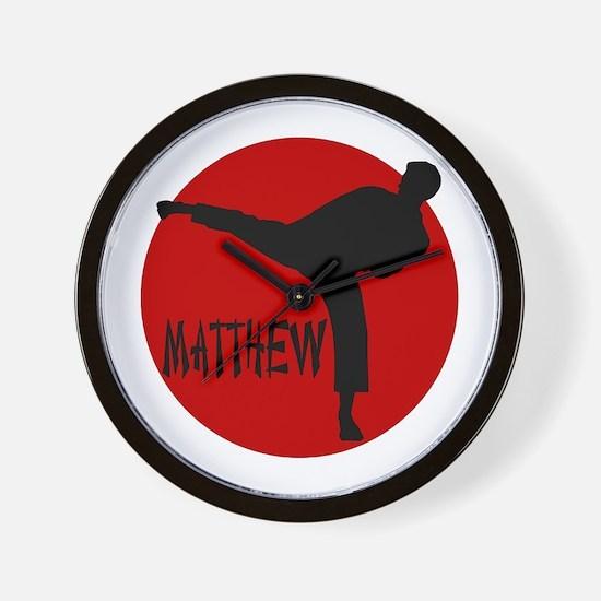 Matthew Martial Artist Wall Clock