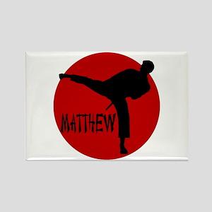 Matthew Martial Artist Rectangle Magnet
