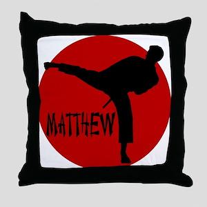Matthew Martial Artist Throw Pillow