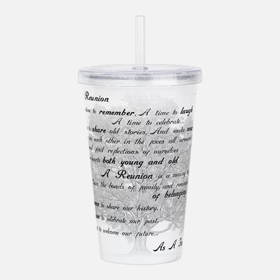 Reunion Poem Acrylic Double-wall Tumbler