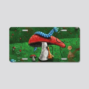 magic mushroom Aluminum License Plate