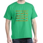 Afraid of Arabic Dark T-Shirt