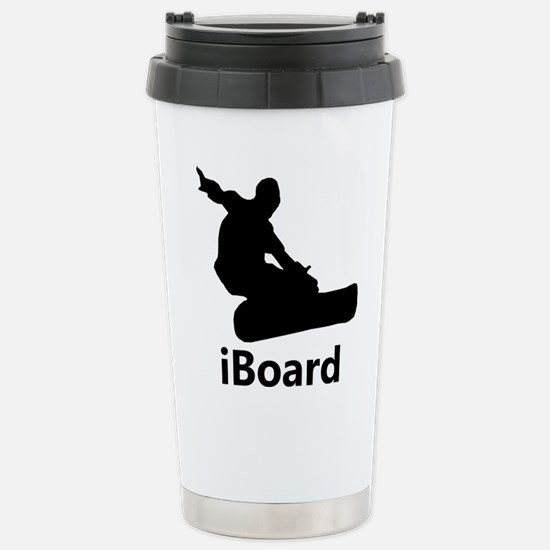 iBoard Snowboarding Stainless Steel Travel Mug