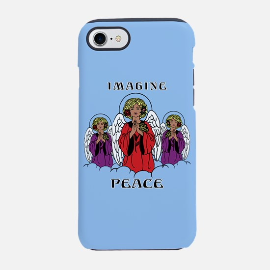 Blue Imagine Peace iPhone 8/7 Tough Case