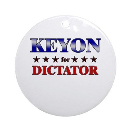KEYON for dictator Ornament (Round)