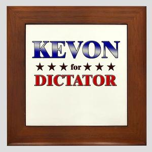 KEVON for dictator Framed Tile