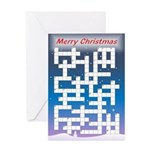 Crossword - More Challenging - Greeting Card