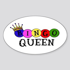 Bingo Queen Oval Sticker