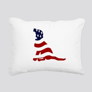 PatriotLab_T Rectangular Canvas Pillow