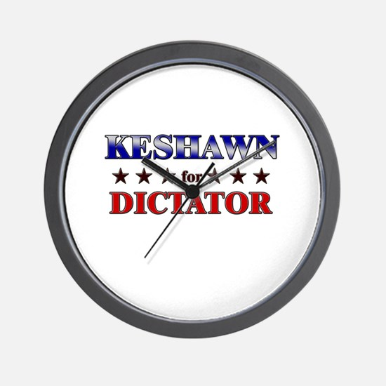 KESHAWN for dictator Wall Clock