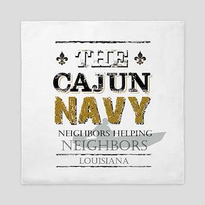The Cajun Navy Neighbors Helping Neigh Queen Duvet