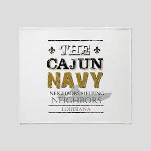 The Cajun Navy Neighbors Helping Nei Throw Blanket