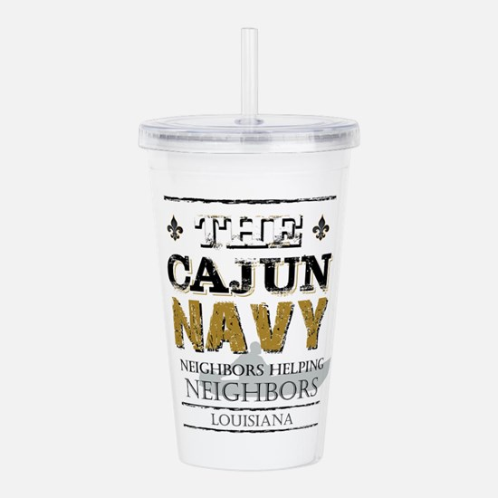 The Cajun Navy Neighbo Acrylic Double-wall Tumbler