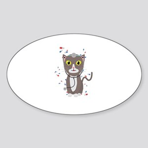 Cat with medical equipment Sticker