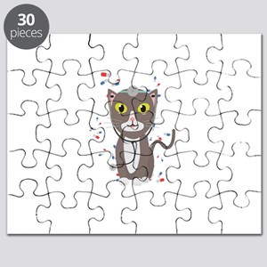 Cat with medical equipment Puzzle