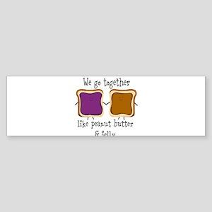 Peanut Butter and Jelly Bumper Sticker