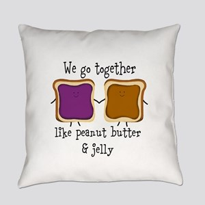 Peanut Butter and Jelly Everyday Pillow