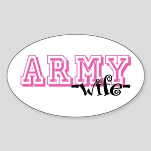 Army Wife - Jersey Style Oval Sticker