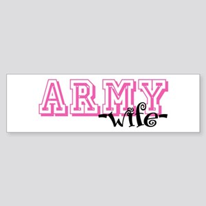 Army Wife - Jersey Style Bumper Sticker
