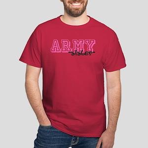 Army Sis - Jersey Style Dark T-Shirt