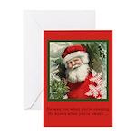 Santa Sees - Christmas Card