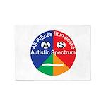 Autistic Symbol 5'x7'Area Rug
