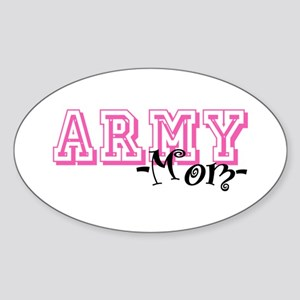 Army Mom - Jersey Style Oval Sticker
