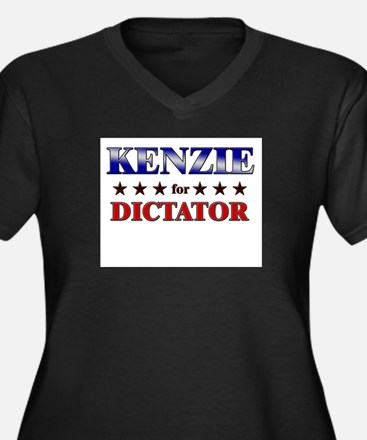 KENZIE for dictator Women's Plus Size V-Neck Dark