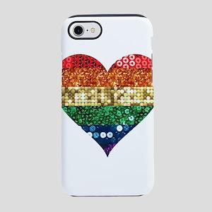 lgbt rainbow heart iPhone 8/7 Tough Case