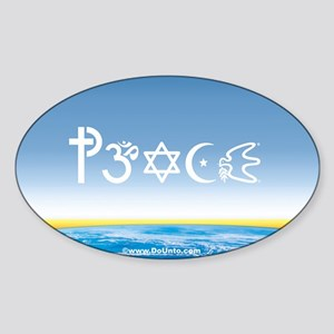 Peace-OM on earth Day Oval Sticker
