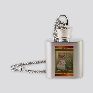 2018 Chinese New Year of the Dog, W Flask Necklace