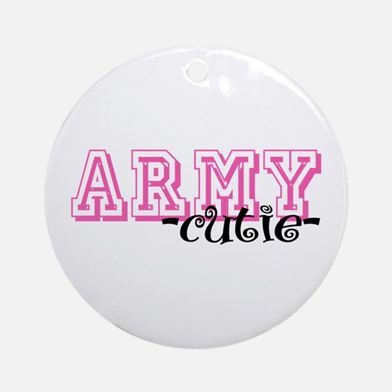 Army Cutie - Jersey Style Ornament (Round)