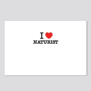 I Love NATURIST Postcards (Package of 8)