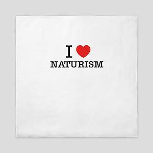 I Love NATURISM Queen Duvet