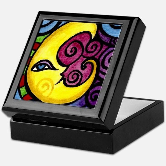 Swirly Blue Moon Keepsake Box
