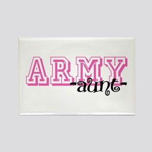 Army Aunt - Jersey Style Rectangle Magnet